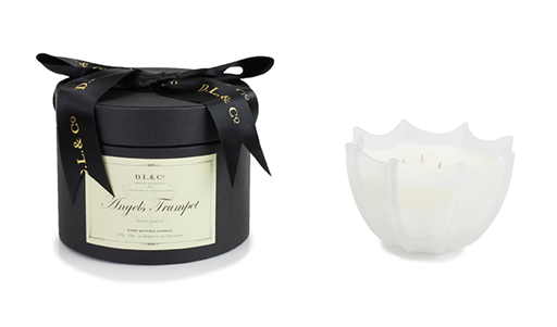 Angels Trumpet 10Oz Scalloped Candle