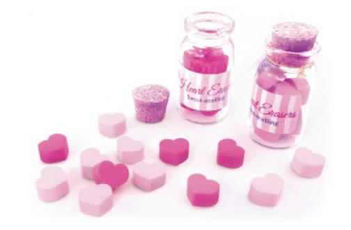 Scented Mini Heart Erasers