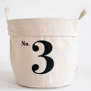 No. 3 Small Canvas Bucket