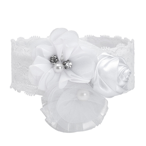 White Flowers Headband