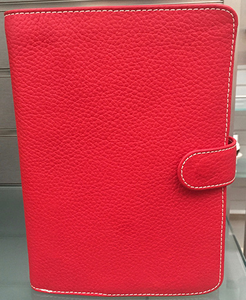 6 Ring Wallet Agenda RO-Red
