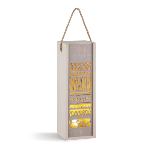 Savor the Moment Wine Lantern Box