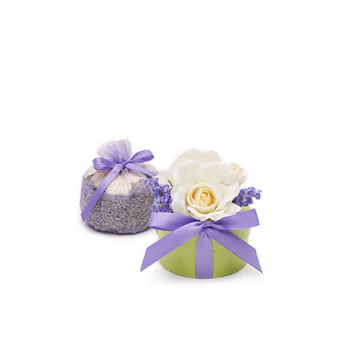 Organic Moonlit White Tea Rose & Lavender Sachet