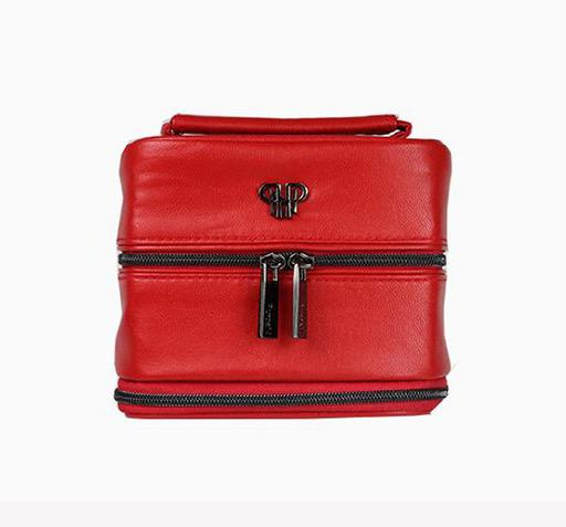 Tiara Weekender Jewelry Case Red/ Stripe