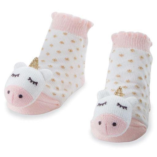 Unicorn Rattle Toe Socks
