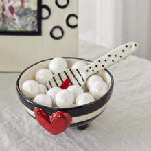 Load image into Gallery viewer, Wide Stripe Candy Bowl with Spoon Set