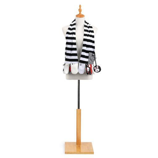 Mommy & Me Activity Scarf Black and White