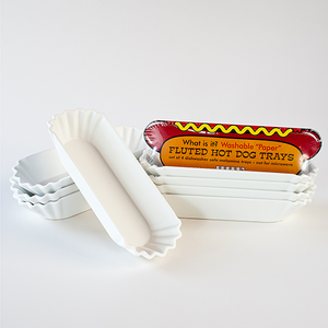 "Washable ""Paper"" Hotdog Tray"