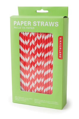 Paper Straws + Red
