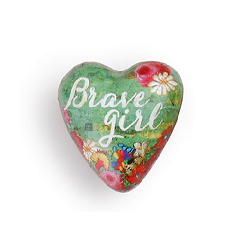 Brave Girl Art Heart Token