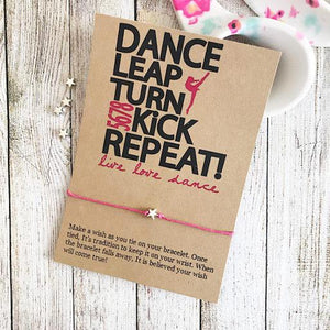 Dance Turn Kick Repeat Wish Bracelet