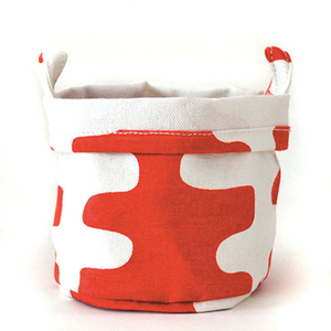 Tangerine Echo Small Recycled Canvas Bucket