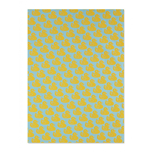 Blue Ducklings Gift Wrap Sheet