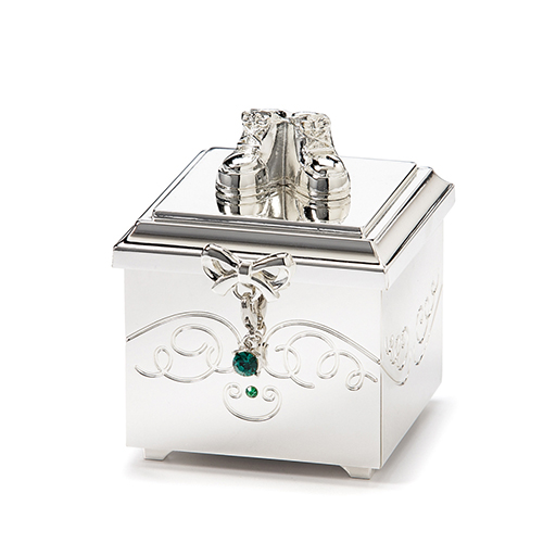 Birthstone May Charm Keepsake Box