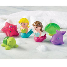 Load image into Gallery viewer, Mermaid Rubber Bath Toy Set