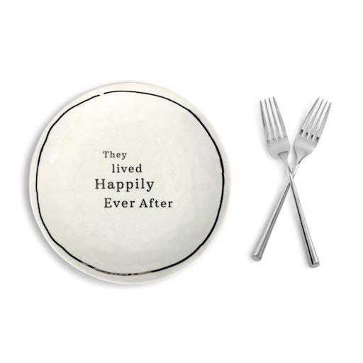 Wedding Sharing Plate and Forks Set