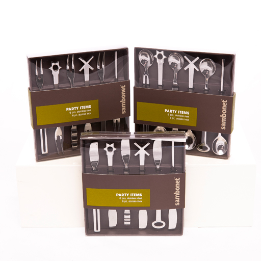 Cocktail Party Spoons set 6 giftboxed
