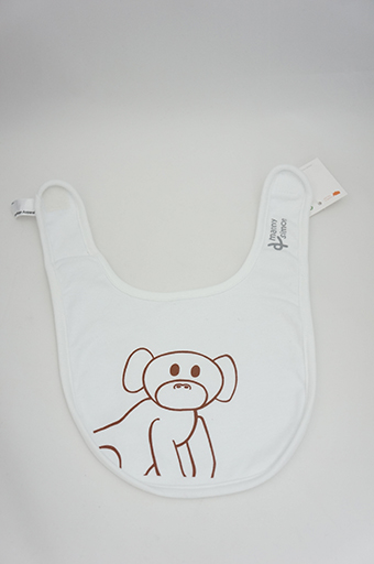 White Monkey Bib