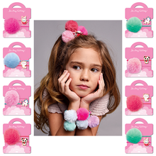 Load image into Gallery viewer, Pom Pom Hair Tie with Charm