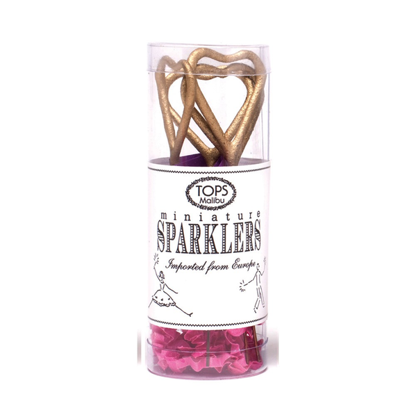 Mini Gold Sparklers - Heart