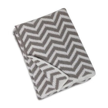 Load image into Gallery viewer, Grey Chevron Blanket
