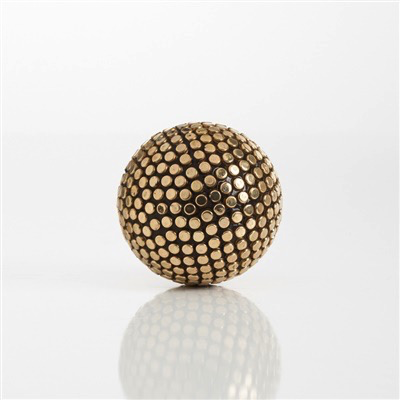 "Gold Studded Decor 3"" Ball"
