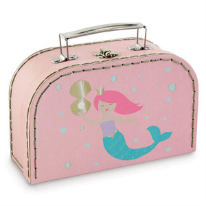 Gold Foil Mermaid Nested Suitcase Set