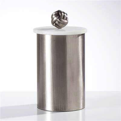 Tomar Antique Pewter Ribbed Canister - Tall