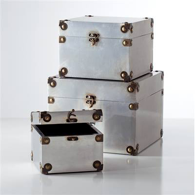 Aviator Square Nested Storage Boxes Set of Three