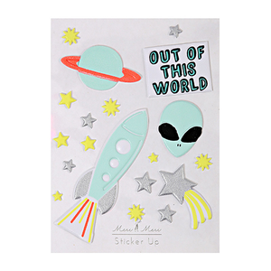 Out of This World Puffy Sticker