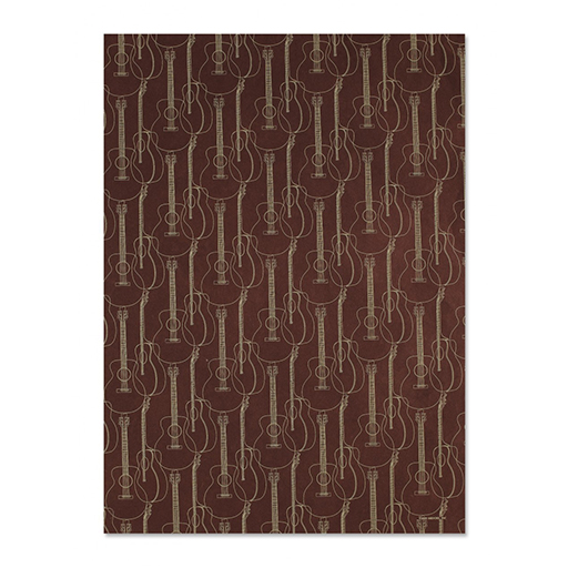 Brown Guitars Gift Wrap Sheet