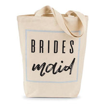 Load image into Gallery viewer, Bridesmaid Canvas Tote Bag