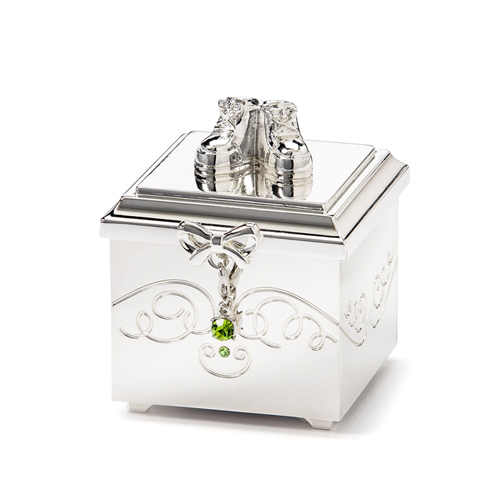 Birthstone August Charm Keepsake Box