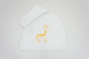 White Giraffe Infant Hat