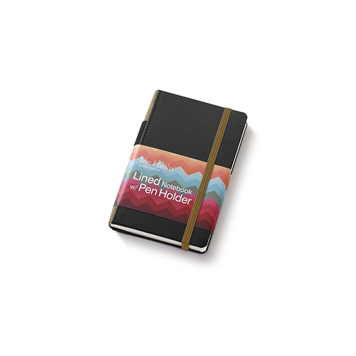 Small Lined Notebook Black And Olive Jpaper