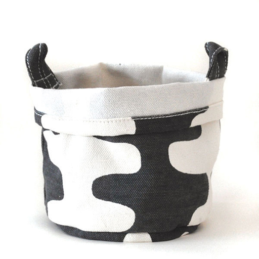 Recycled Canvas Bucket, Charcoal, Echo, Small