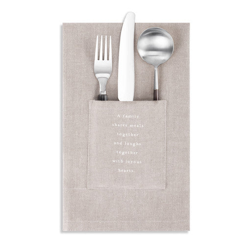 Family Utensil Pocket Napkin - Set of 2