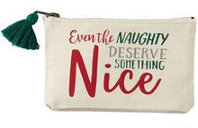Load image into Gallery viewer, Christmas Sentiment Canvas Pouches