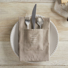 Load image into Gallery viewer, Family Utensil Pocket Napkin - Set of 2