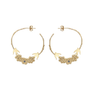Maria bridal hoop earrings