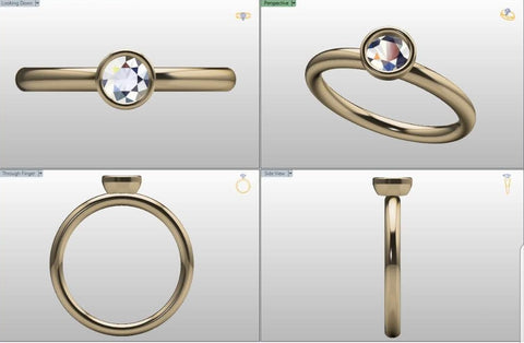 Engagement ring makeover original CAD drawing