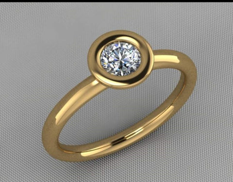 Engagement ring makeover revised CAD drawing