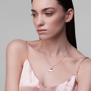 ella green jewellery irish designer opal bird pendant necklace yellow gold gemstone