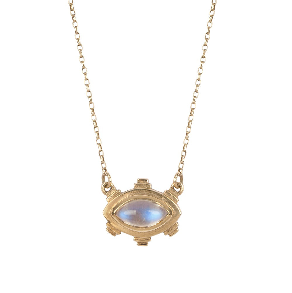 Irish jewellery designer ella green jewellery 9k Yellow Gold rainbow moonstone