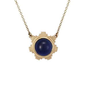 ella green jewellery irish designer van eyck art inspired pendant necklace iolite blue gemstone