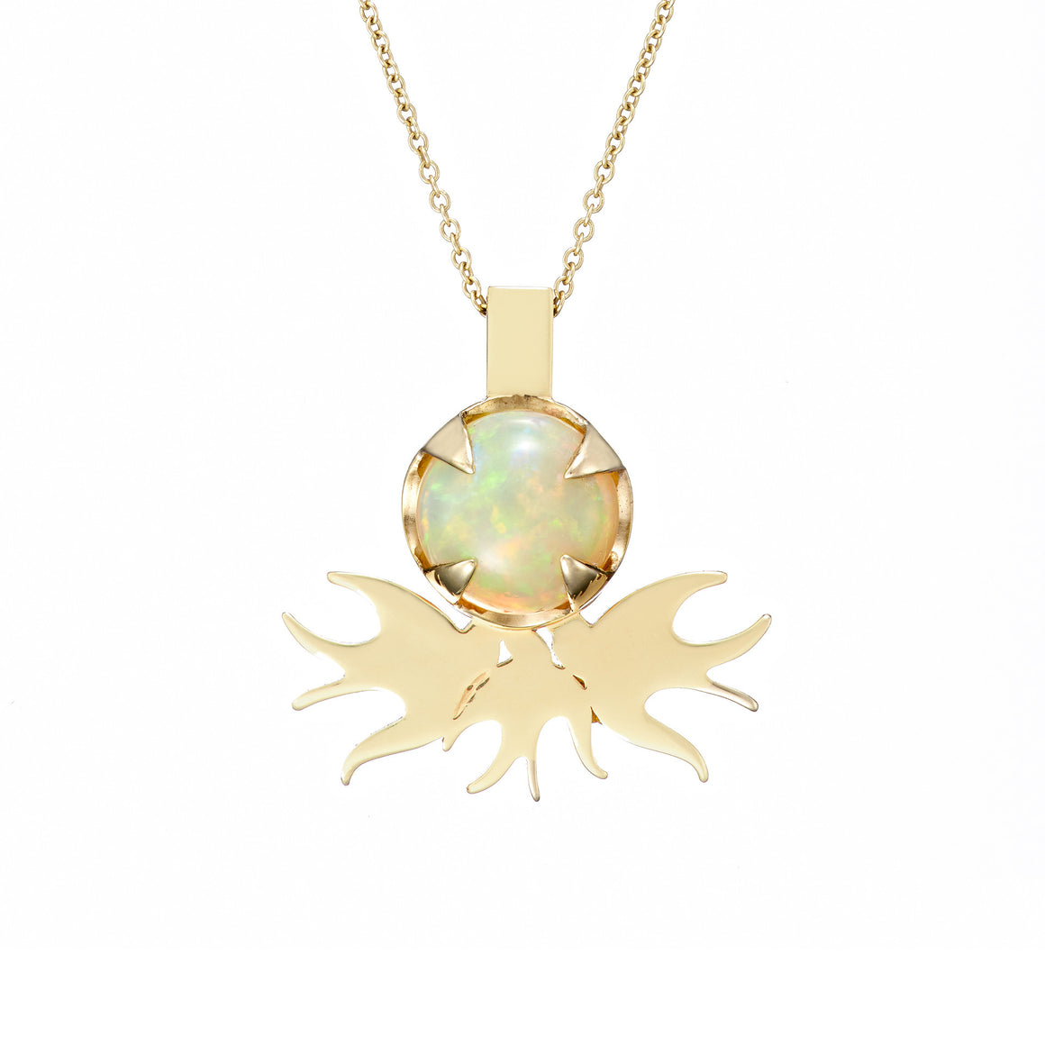 irish jewellery designer ella green jewellery irish designer opal bird pendant necklace yellow gold gemstone