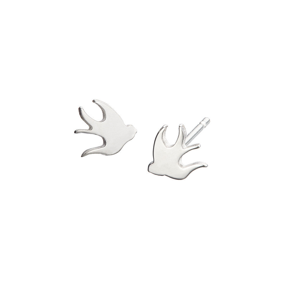 ella green jewellery irish designer bird stud earring silver 925