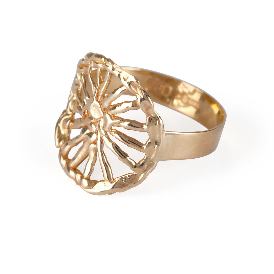 Irish jewellery designer ella green 14k Yellow Gold ring