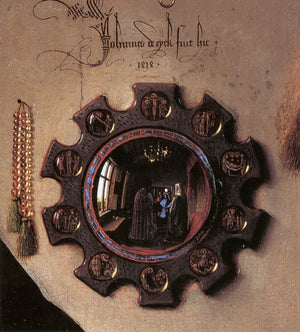 van eyck arnolfini wedding portrait mirror