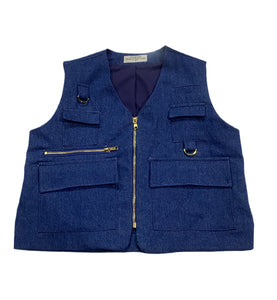Denim Fishermen Vest